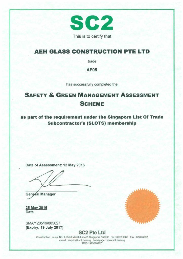 Safety & Green Management Assessment Scheme