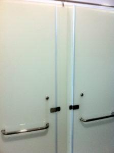Frosted Toilet Glass Door